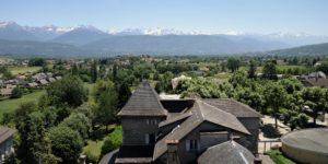 Vue panoramique de la vallée et sur la chaine des Belledonnes