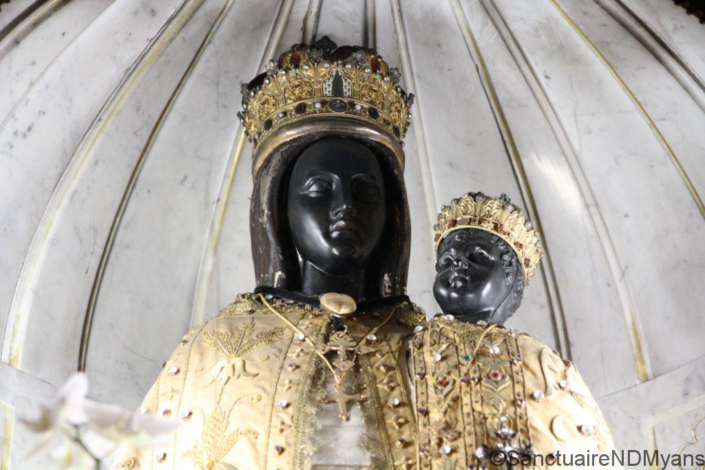 La vierge noire du sanctuaire de Myans